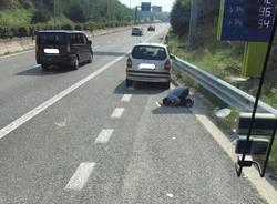 musulmano prega superstrada 336