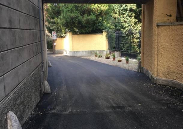 Asfaltate le strade di Cazzago Brabbia