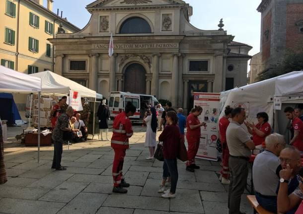 Il villaggio della Croce Rossa sorge in città