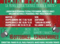 La 24^ edizione dell\'Accademia Teatro Franzato, l\'A.A. 2018/2019 degli storici laboratori varesini di pedagogia teatrale