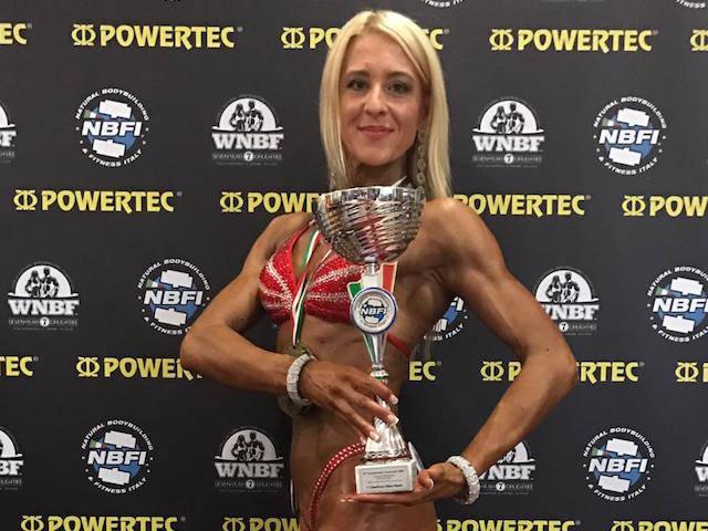 Sabrina Crozzoletto tricolore di body building