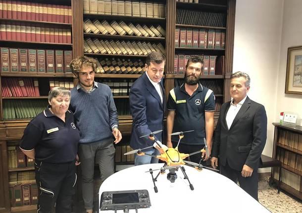 drone polizia locale pietro zappamiglio gorla maggiore