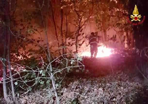 Incendio Induno Olona 2018 - I soccorsi