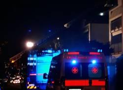 Incendio mansarda a Cardano al Campo
