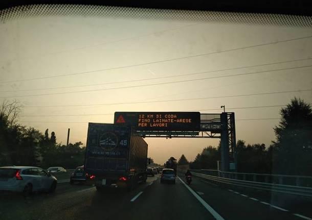 rallentamenti in autostrada