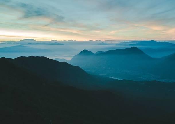 tramonto dal Campo dei Fiori