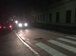 Via Nino Bixio 24 ore dopo l'inciDente