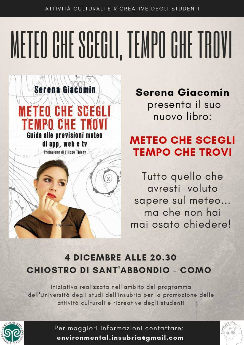"""EnvironMental: Serena Giacomin \""""Meteo che scegli, Tempo che trovi\"""""""
