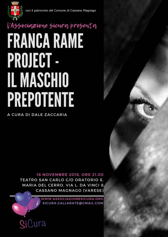 Franca Rame Project Il maschio prepotente