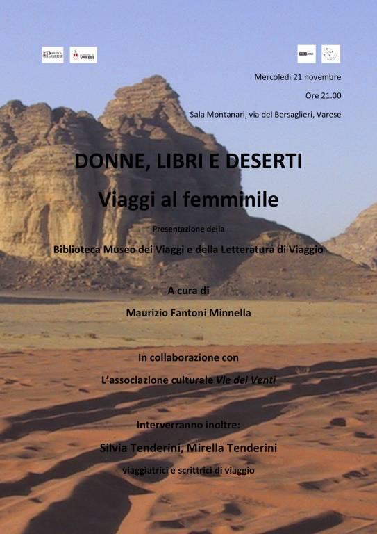 DONNE, LIBRI, DESERTI: VIAGGI AL FEMMINILE con la presenza di Mirella e Silvia Tenderini