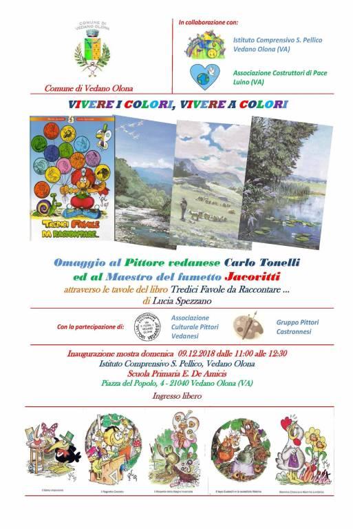 Vivere i colori, vivere a colori: omaggio al fumettista Jacovitti ed al pittore vedanese Carlo Tonelli