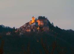 Il Sacro Monte dopo il tramonto