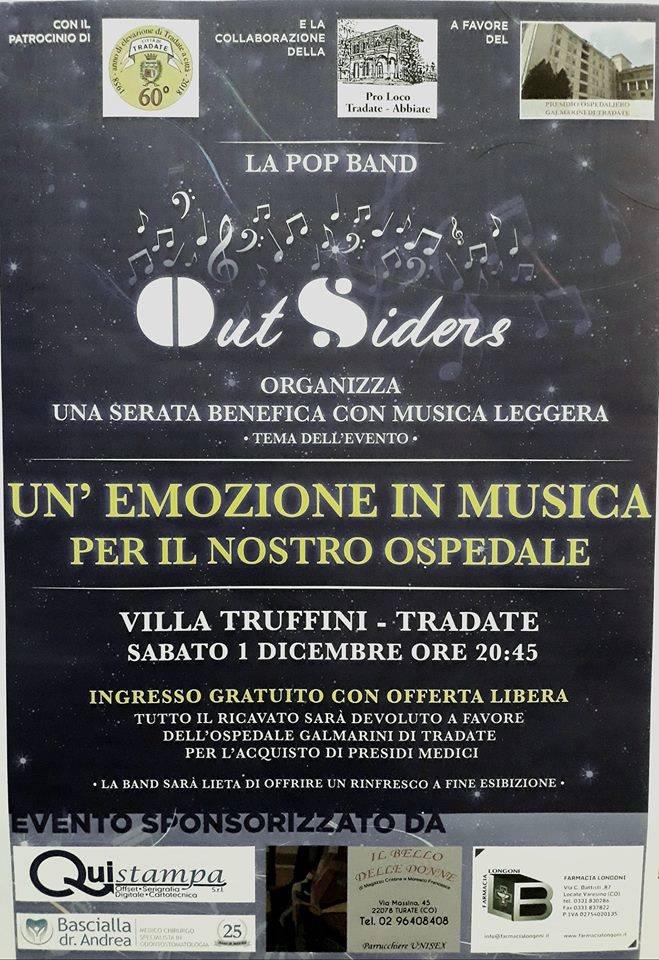 UN\'EMOZIONE IN MUSICA PER IL NOSTRO OSPEDALE