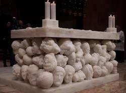 Cerimonia di dedicazione dell'altare della Basilica di Gallarate