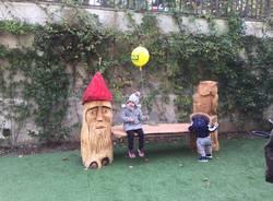 coldiretti regala una panchina di legno