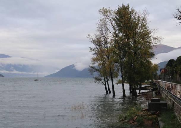Il Lago Maggiore in piena (sabato 3 novembre)