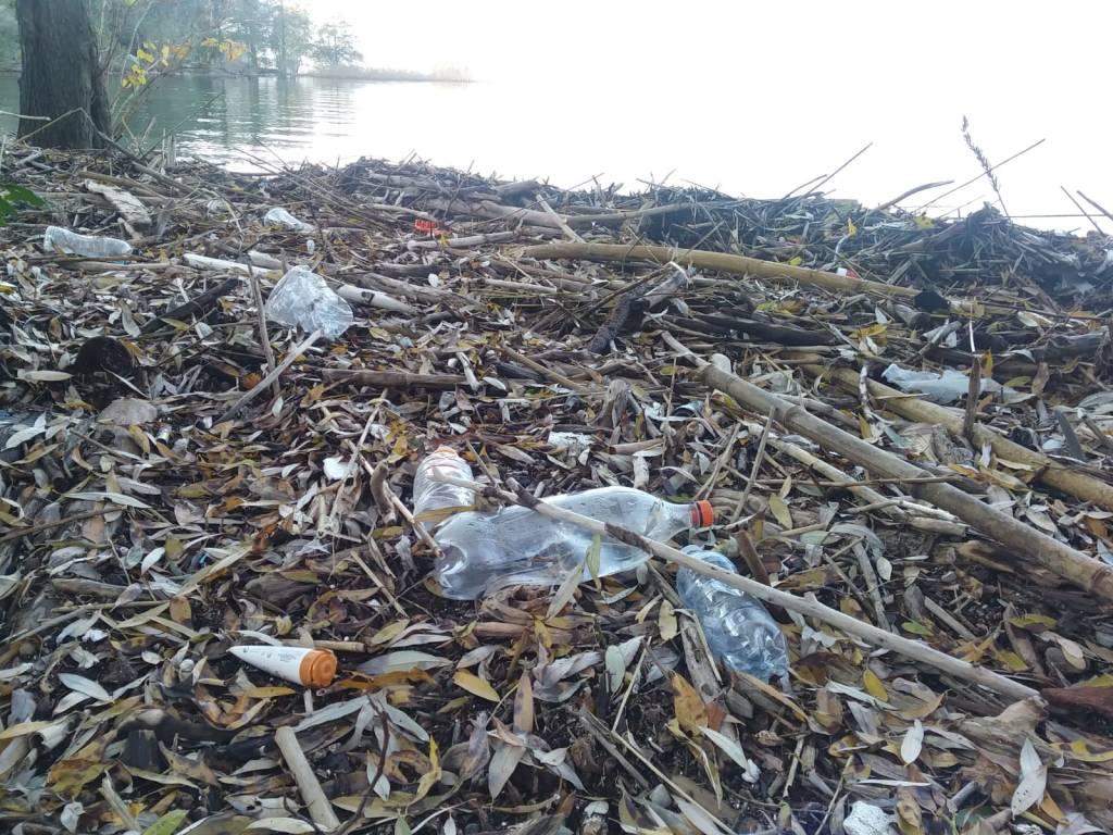 Il lago restituisce rifiuti