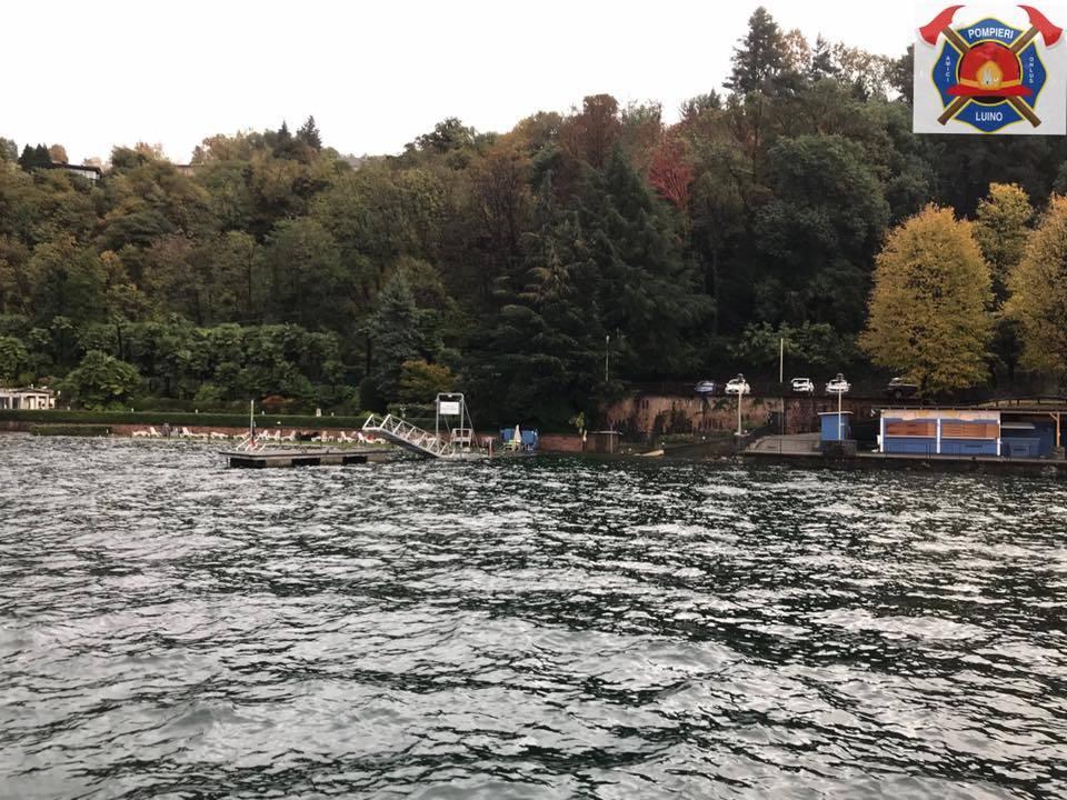 La piena del lago Maggiore a Luino, 7 novembre 2018