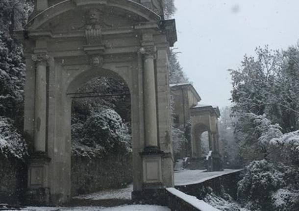 Il Sacro Monte con la neve