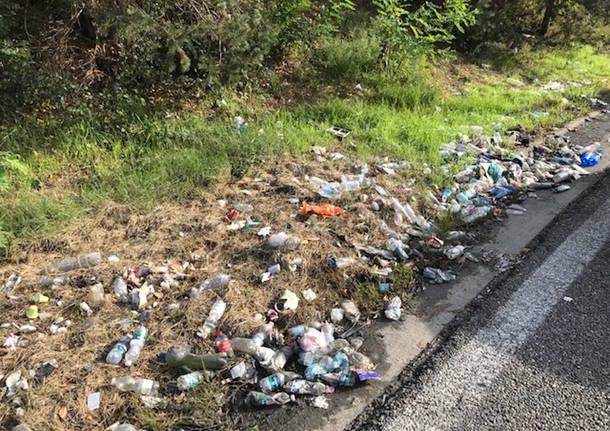 Malpensa: immondizia lungo la statale 336