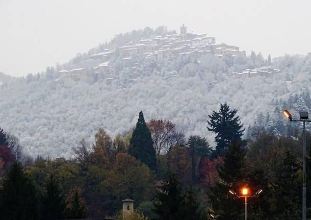 La neve al Sacro Monte (novembre 2018)