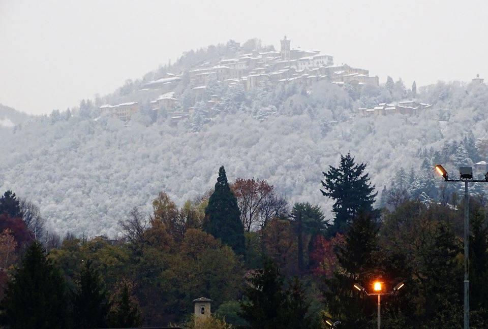Neve al Sacro Monte 19 dicembre 2018