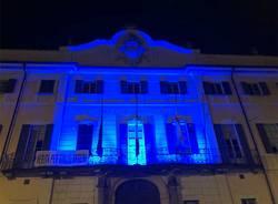 palazzo estense illuminato di blu per giornata del diabete