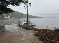 Pulizia del lago Maggiore a Laveno Mombello