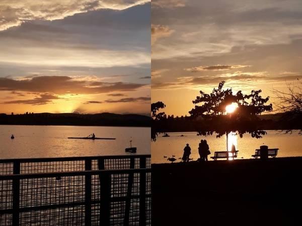 tramonto sul lago - foto di Isabel Gonçalves