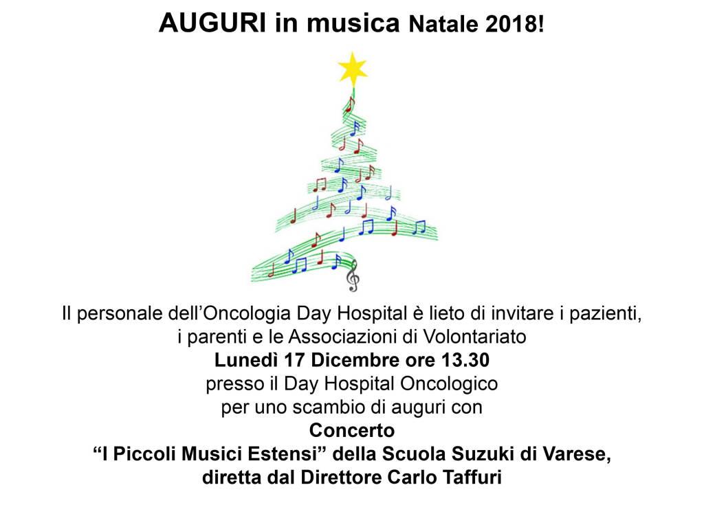 Concerto di Natale all'Ospedale di Circolo di Varese