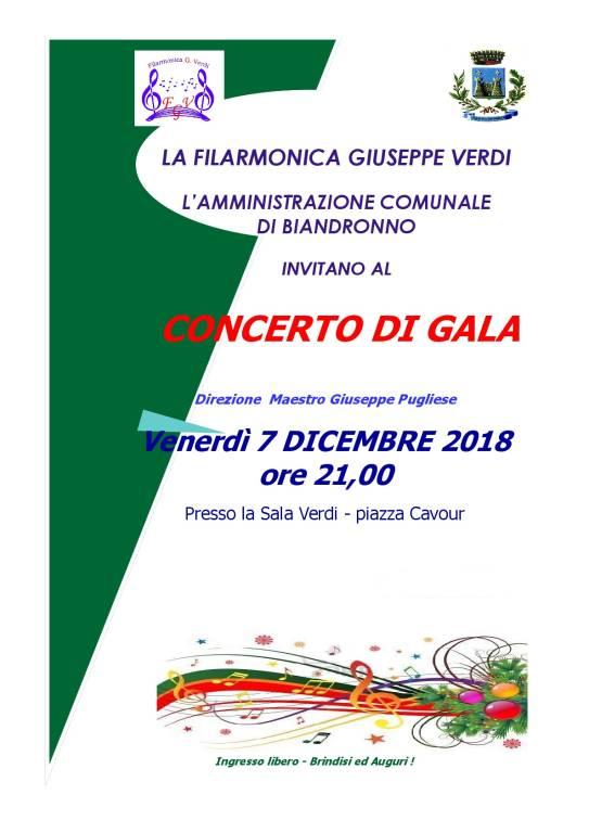concerto di Gala . Filarmonica G. Verdi .