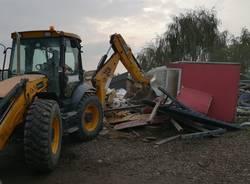 Ultime demolizioni al campo sinti di Gallarate