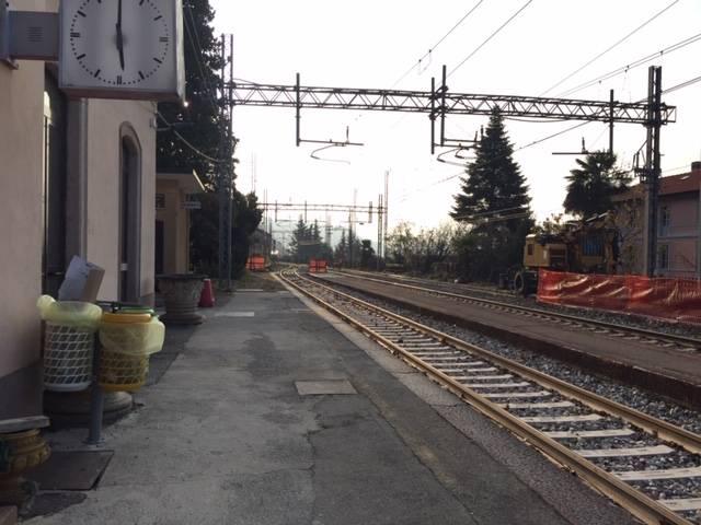 Lavori in corso alla stazione di Maccagno