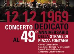 Concerto dedicato al 49° anniversario della strage di Piazza Fontana
