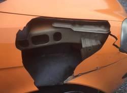 Scontro auto - cervo a Gornate Olona