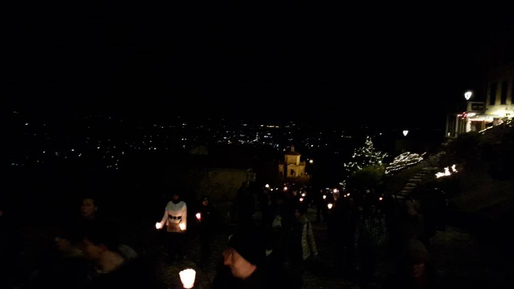 Fiaccolata di fine anno al Sacro Monte 2018