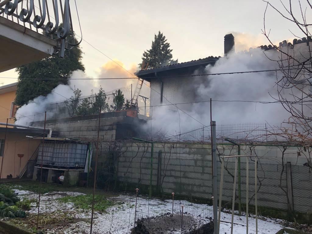 Incendio a Castiglione