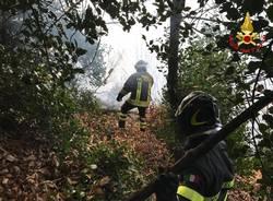 incendio cugliate fabiasco 31 dicembre 2018