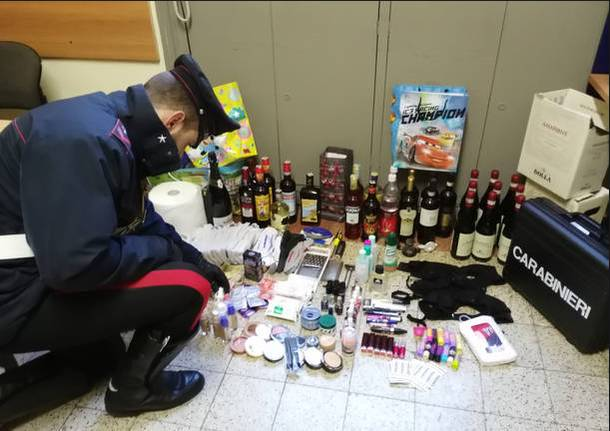 merce rubata supermercato carabinieri