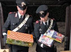 sequestro fuochi d'artificio carabinieri turate