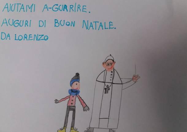 """Un disegno per il Papa: """"Aiutami a guarire"""""""