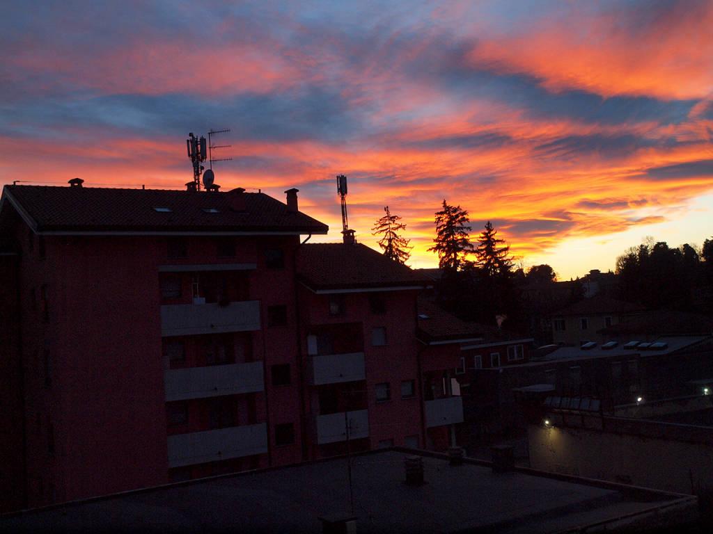 Il tramonto del 12 gennaio