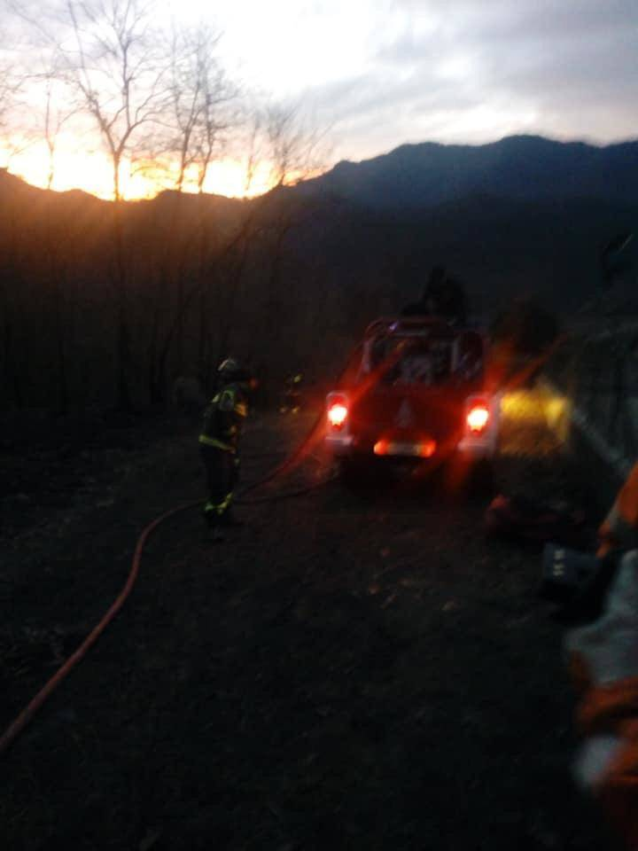 Principio di incendio a Duno