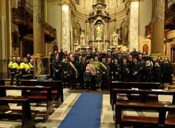 San Sebastiano: i vigili festeggiano in piazza