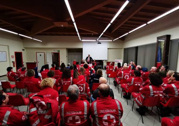 Francesco Rocca, la visita ai volontari di Varese