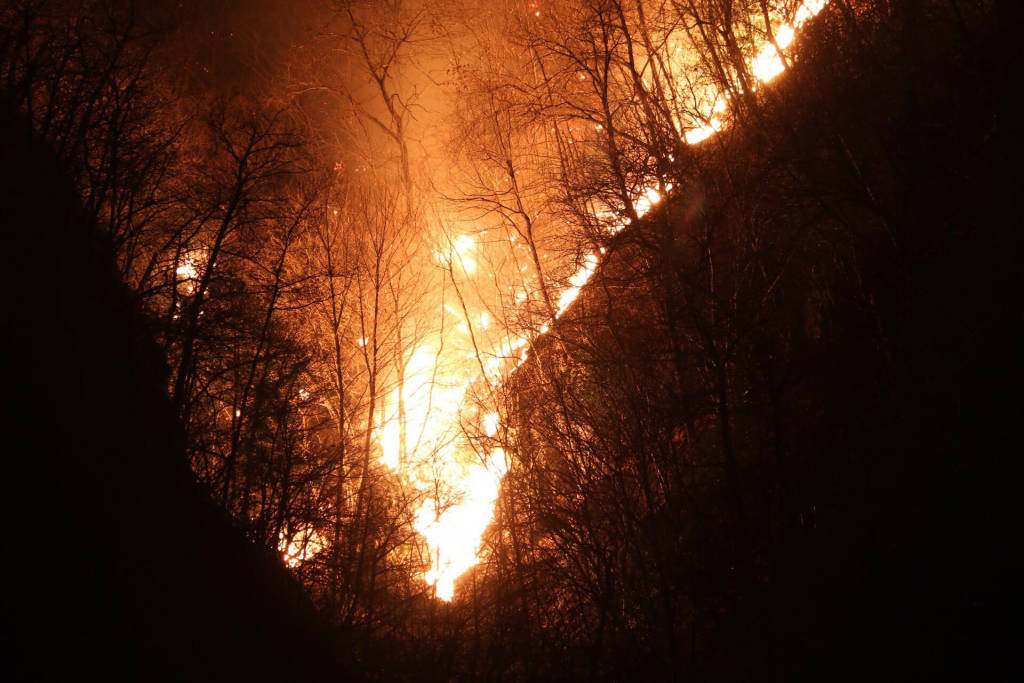 Ghirla: incendio sul monte Mondonico - Foto di Luca Leone