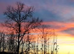 Il tramonto del 12 gennaio 2019
