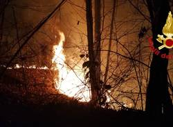 Incendio a Castiglione Olona, 10 gennaio
