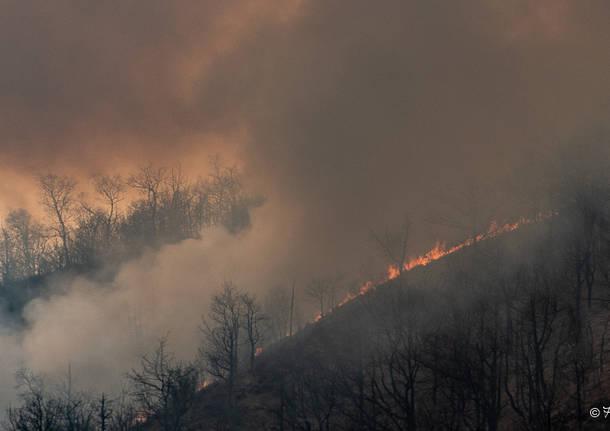 Incendio Monte Martica - foto Aresi