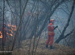 Incendio Monte Martica, le foto di Borserini